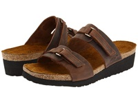Naot Footwear Carly Crazy Horse Leather Women's Sandals Brown