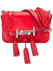 Tod's Tassel Detailed Crossbody Bag Red
