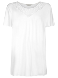 Windsmoor Jersey Lace Top Ivory