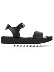 Jil Sander Toe Strap Sandals Black