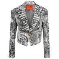 Vivienne Westwood Red Label Women's Cropped Lou Lou Jacket Ticking Print