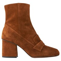 Whistles Ambrose Square Toe Loafer Boots Tan