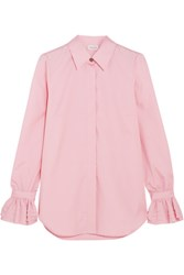 Paul And Joe Ealiette Crystal Embellished Cotton Shirt Pink
