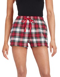 Lord And Taylor Plaid Sleep Shorts Red