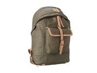 Will Leather Goods Wax Canvas Dome Backpack Olive Backpack Bags
