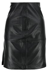 2Nd Day Cecilia Leather Skirt Black