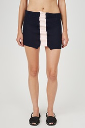 Helen Lawrence Cut Out Latex Detail Skirt Navy