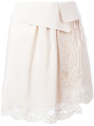 Chloe Chloe Lace Detail Skirt Nude And Neutrals