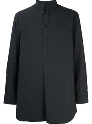 Song For The Mute Half Placket Shirt Black