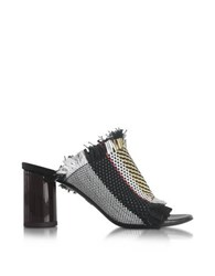 Proenza Schouler Ginepro Woven Leather High Heel Sandal Black