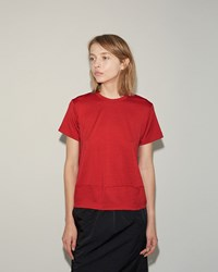 Comme Des Garcons Wool Jersey Tee Red
