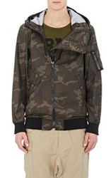 Nlst Camouflage Hooded Jacket Green