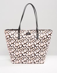 Paul's Boutique Pauls Shopper Tote Bag In Neon Leopard Print Neon Leopard Multi