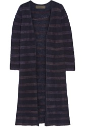 The Elder Statesman Mr Simple Striped Cashmere Cardigan