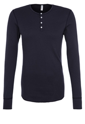 American Apparel Baby Thermal Long Sleeved Top Navy Dark Blue