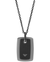 Emporio Armani Stainless Steel Dog Tag Pendant Necklace Egs2016001 Silver