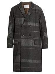 Kolor Notch Lapel Wool Blend Overcoat Grey
