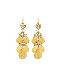 Jose And Maria Barrera Crystal Teardrop Chandelier Earrings