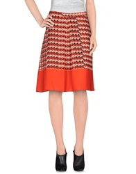 Blue Les Copains Knee Length Skirts Red