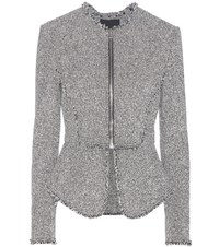 Alexander Wang Embellished Tweed Jacket Grey