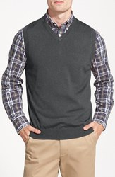 Men's Nordstrom Merino Wool Vest Grey Dark Charcoal Heather