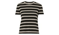 Whistles Stripe Cross Back T Shirt Black Multi