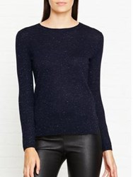 Whistles Annie Sparkle Knitted Top Navy