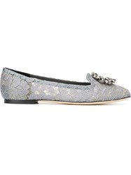 Dolce And Gabbana 'Vally' Slippers Grey