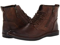 John Varvatos Barrett Side Zip Boot Mocha Men's Boots Brown