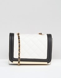 Aldo Quilted Contrast Cross Body Bag White Miscellaneous
