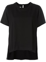 Maison Martin Margiela Mm6 Maison Margiela Lateral Slit Oversized T Shirt Black