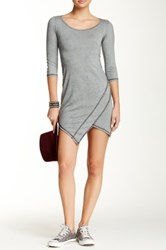 Go Couture Vintage Washed Asymmetric Dress Gray