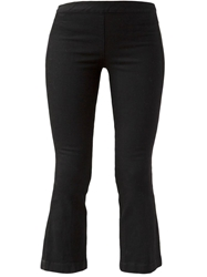 The Row Cropped Flared Trousers Black