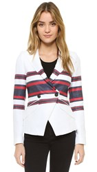 Smythe Crossover Tennis Blazer Navy Red Stripe