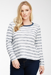 Forever 21 Metallic Striped Sweater