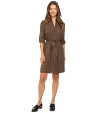 Atm Anthony Thomas Melillo Belted Shirtdress Army Women's Dress Green