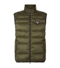 Armani Ea7 Down Quilted Gilet Male Green