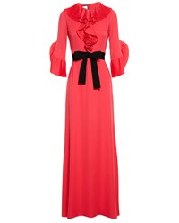 Gucci Silk Satin Georgette Gown Hot Pink Bright Pink Black