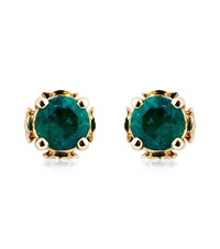 Theo Fennell Emerald Chinese Blossom Bud Earrings Female