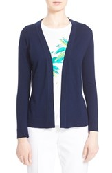 Women's Kate Spade New York Cotton And Cashmere Open Cardigan Rich Navy