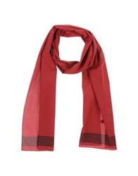 Adam Kimmel Oblong Scarves Brick Red
