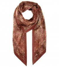 Loro Piana Printed Cashmere Scarf Brown