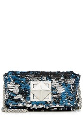 Sonia Rykiel Sequin Shoulder Bag Blue