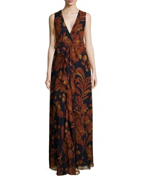 Thakoon Floral Print Cascading Ruffle Gown