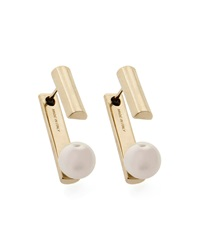 Jason Wu Gold Plated Pearly Jacket Earrings