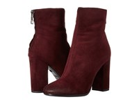 Just Cavalli Burnished Toe High Heel Bootie Wine Women's Zip Boots Burgundy