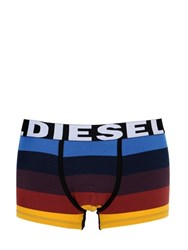 Diesel Striped Stretch Cotton Boxer Briefs