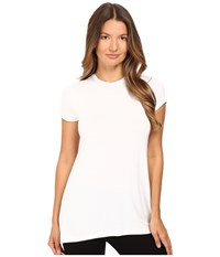 Atm Anthony Thomas Melillo Short Sleeve Crew Neck Tee White Women's T Shirt