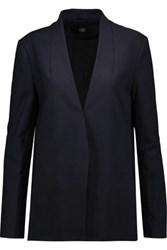 Tibi Agathe Stretch Crepe Blazer Midnight Blue