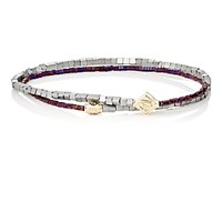 Luis Morais Men's Beaded Double Wrap Bracelet No Color